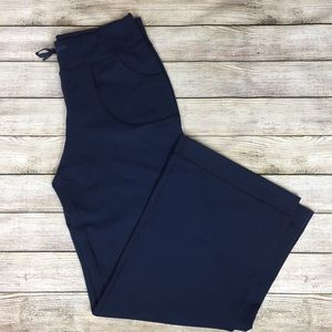 LULULEMON Wide leg navy blue yoga athletic pant 8
